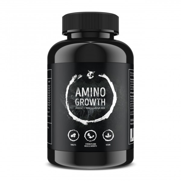Amino Growth + Maca + Vitamin B6 Front